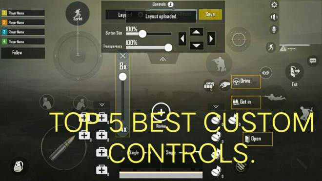 top 3 best custom controls in pubg mobile | pubg mobile amino