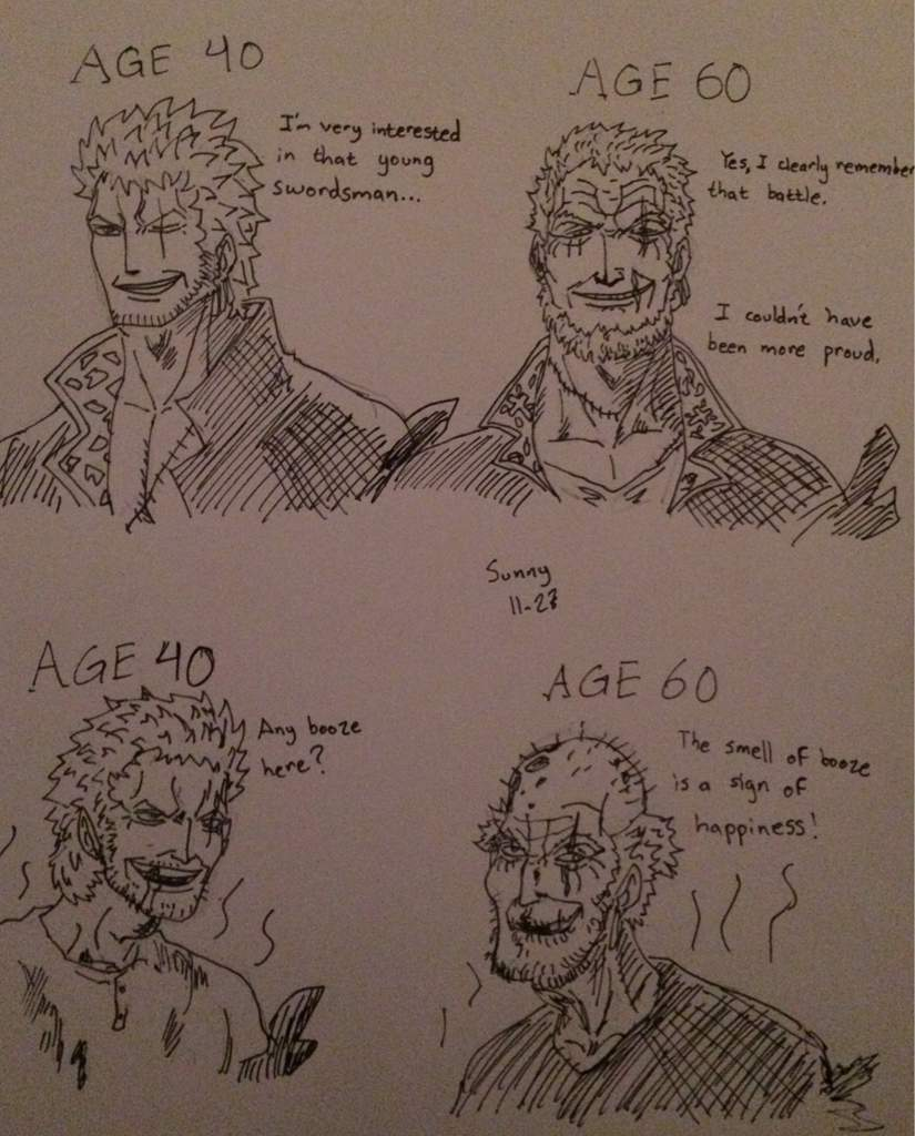 Did you bring good meat? One Piece Architect Reveals Anile Zoro Zoro Age 60