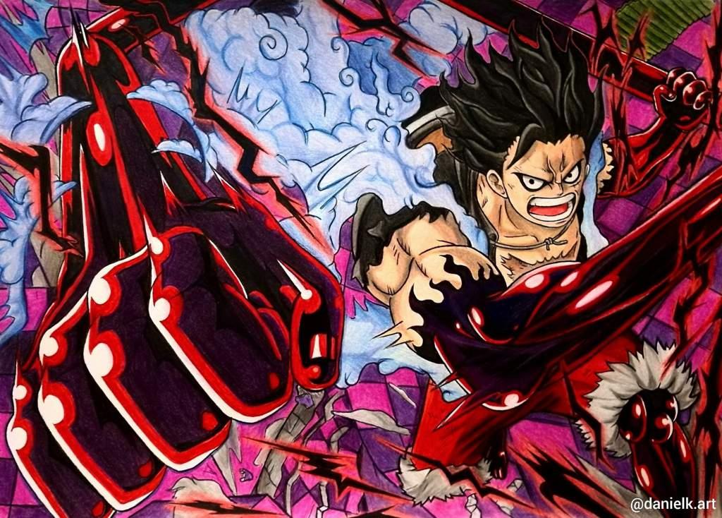 Luffy in gear fourth form! Gear 4 Snakeman Fanart 🐍   One Piece Amino