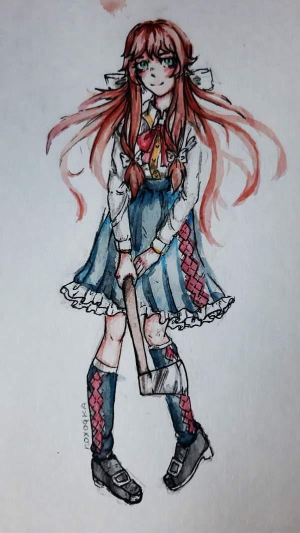 Моника с топориком | 👑Никейляндия • NickeyT Fun👑 Amino