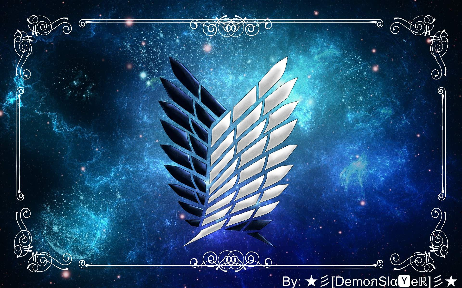 Check out this fantastic collection of wings of freedom attack on titan wallpapers, with 32 wings of freedom attack on titan background images for your. Wings of Freedom background made by me   Attack On Titan Amino