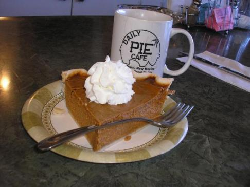 Why yes. I did have pie for breakfast in Pie Town.
