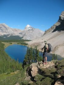 "From your album: ""Glacier NP and Banff/Jasper/Yoho"" Mark posing for the cover of an REI catalog (or, being Canada, per"