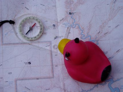 Devil Duck doing some map and compass work