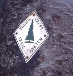 PCT trail marker