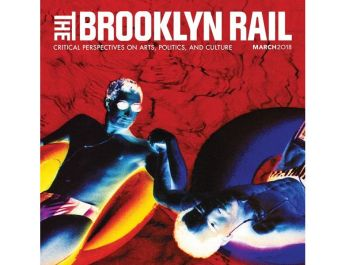 Part of The Brooklyn Rail, March issue Cover, Lola Flash, Stay afloat, use a rubber, Cross-color series, 1993. Original dark room processed photograph, 20 ? 24 inches, Courtesy the artist.