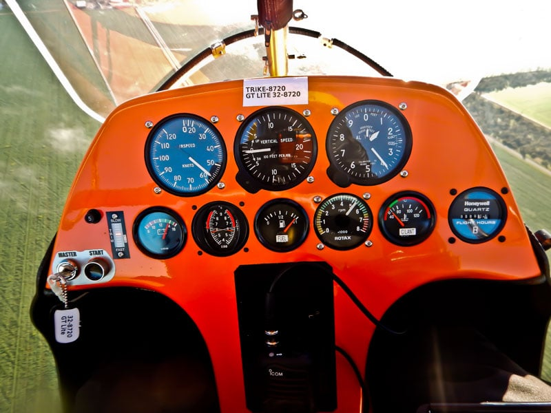 Quik GT Lite Flight Instruments Panel