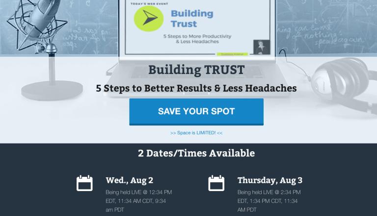 Building Trust Web Event