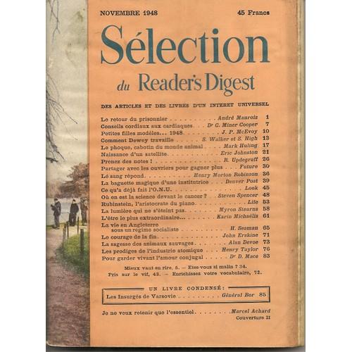 Novembre 1948 de Sélection Du Reader's Digest ...