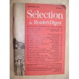 Sélection Du Readers Digest N° 5 : Novembre 1947 ...