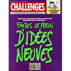 challenges n 17 emploi technologies fiscalite formation culture faites le plein d idees neuves