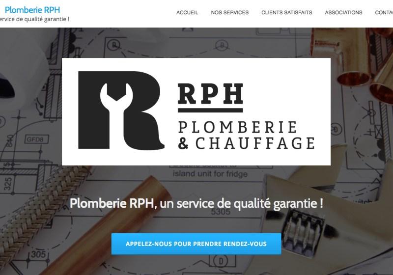 Plomberie RPH Créer par PmeWeb