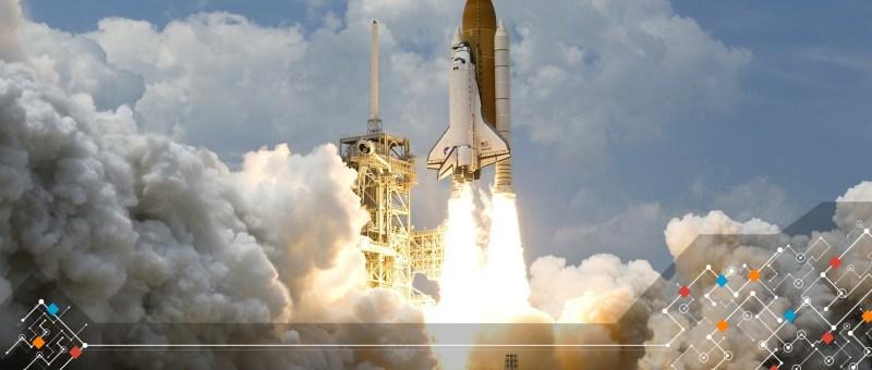 fusée entrain de décoller