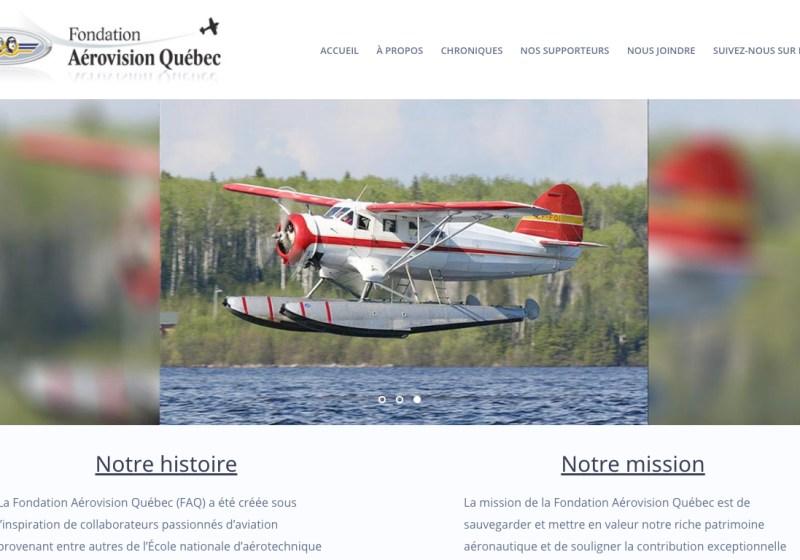Site web de aerovision fait par PmeWeb