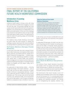 PMF 2019 CA Workforce Commission Executive Summary Workforce Rpt