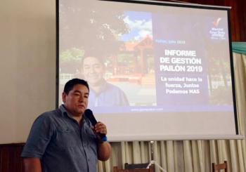 Alcalde destaca apoyo del FCM a Pailón, en su informe público del primer semestre 2019