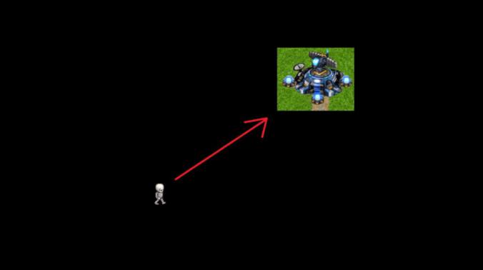 skeleton moving towards base