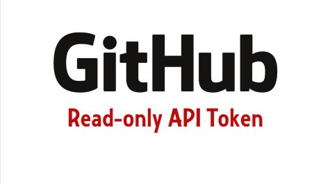 Github read-only API Token