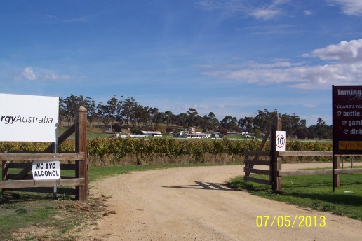 This idyllic setting at the Clare Valley Race Track was the stepping off point for the ride to Darwin.
