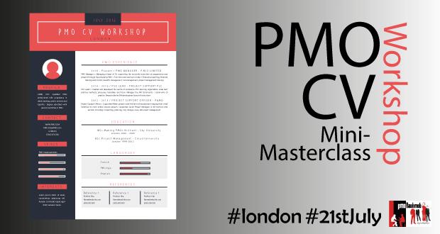 PMO Mini-Masterclass: The PMO CV Workshop – 21st July