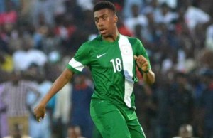 ...Alex Iwobi...happy as a member of the Super Eagles...