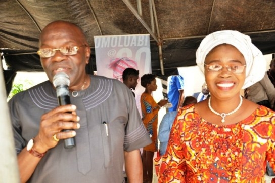 Mrs Bisi Yomi-Layinka and Mr Yanju Adegbite
