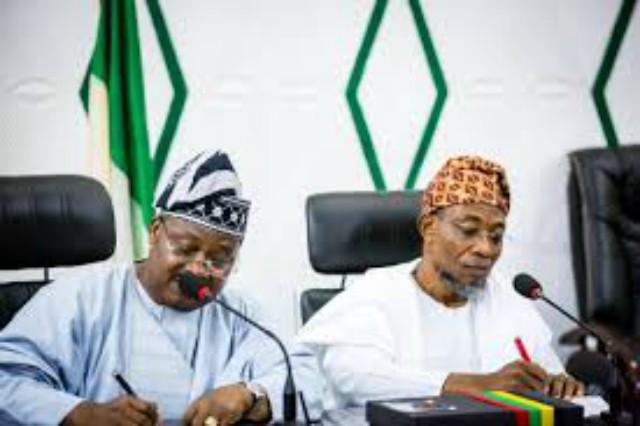 Governors Abiola Ajimobi and Rauf Aregbesola