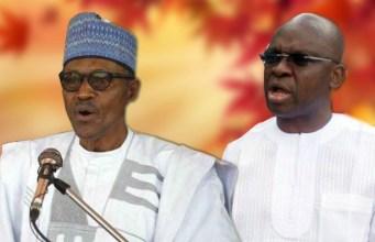 President Muhammadu Buhari, left, with Governor Ayodele Fayose...serious animosity?