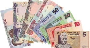 Naira notes...different denominations...