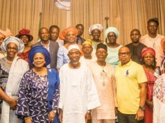 Governor Rauf Aregbesola and his team with some proud parents of the new medical doctors...