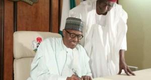 President Muhammadu Buhari with his COS