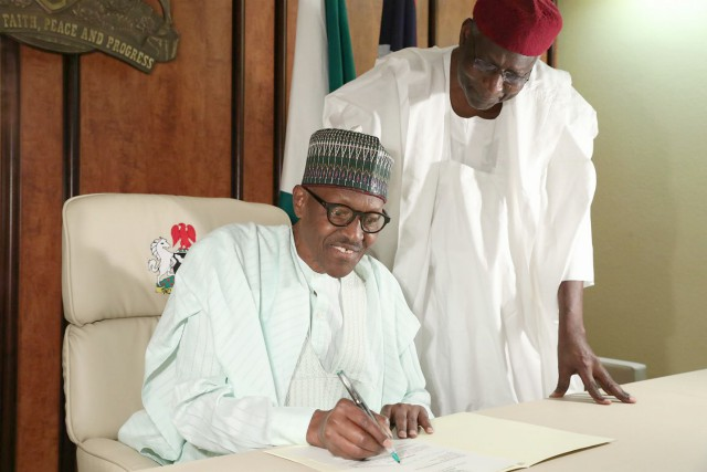 President Muhammadu Buhari with his COS
