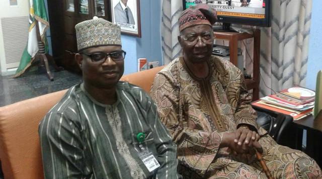 Yemi Siyanbola, left, with the Doyen, Oladipo Akinkugbe...
