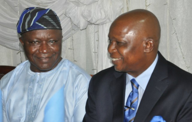 Chief Niyi Akintola, SAN (left) and Prince Lateef Fagbemi, SAN
