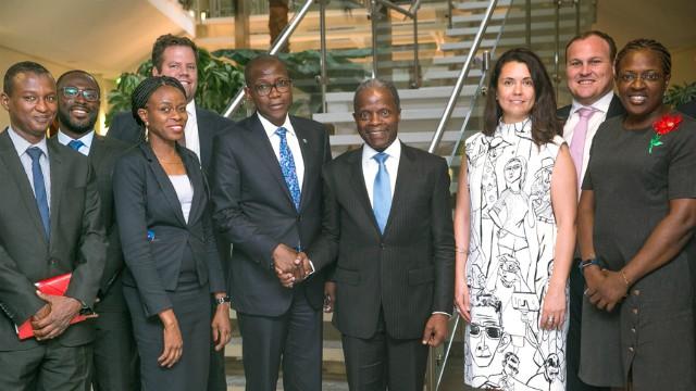 ...the IBTC team with Vice President Yemi Osinbajo....