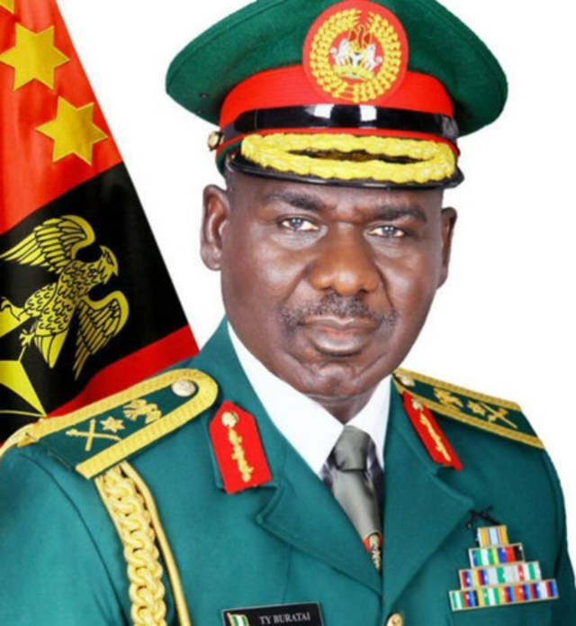 Lt. General Tukur Buratai, the Chief of Army Staff
