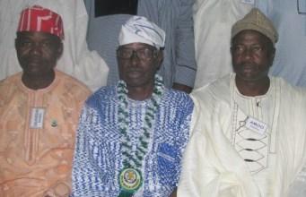L-R: Dr Kamoru Ogunsesan, Col Bola Ogunsanwo and Sunday Amoo