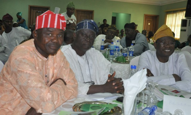 L-R: Dr Kamoru Ogunsesan, Professor Olufemi Omisore, Professor Ayobami Salami...