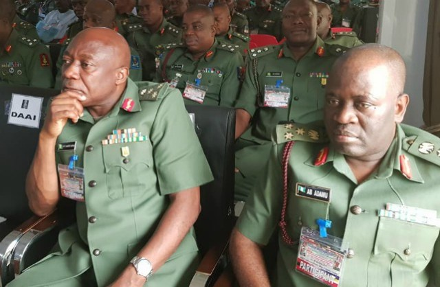 Nigerian Army Officers at a recent event