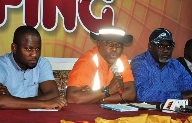 From left: Special Assistant to Oyo state governor on e-media, Mr Tunde Muraina, Special Adviser to Oyo state governor on Infrastructures, Engr. Gbenga Akintola and Commissioner for Information, Culture and Tourism, Mr Toye Arulogun at a briefing by Akintola on the activities of his agency in Ibadan on Wednesday…