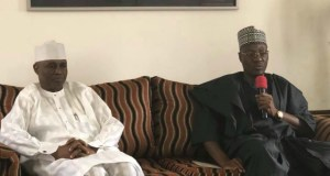 Dr Abdulfatah Ahmed, right, with Hon Shittu...during the visit...