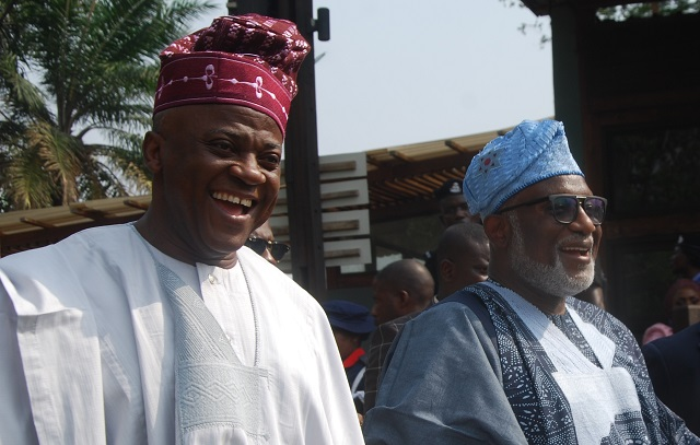 An Ibadan-based industrialist/CEO Jogor Centre, Engineer Femi Babalola; and Ondo State Governor, Mr. Rotimi Akeredolu, SAN…