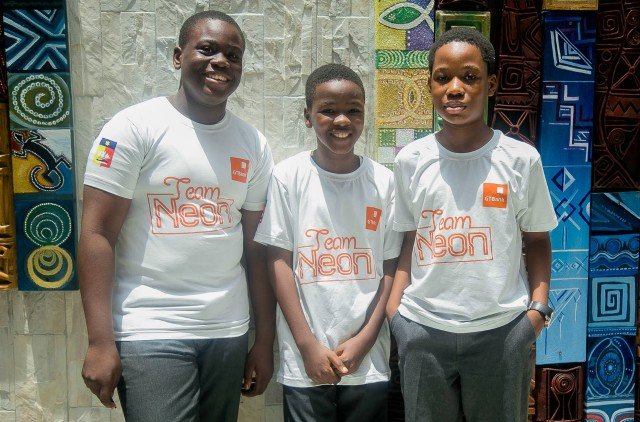 ...the kids from Whitesands School Lagos and known together as Team Neon...