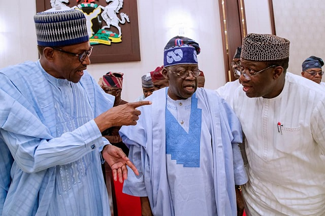 Image result for Fayemi Meets Tinubu And Akande