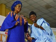 Governor Rauf Aregbesola, right, with his deputy, Mrs Grace Titilayo Tomori...