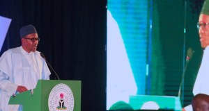 President Muhammadu Buhari, in Abuja on Monday...speaking at a Democracy Day Lecture...