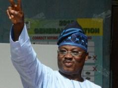 Oyo's Governor Abiola Ajimobi...so happy about the June 12 declaration...