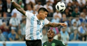 Marcos Rojo, the Argentine player doing his stuff...