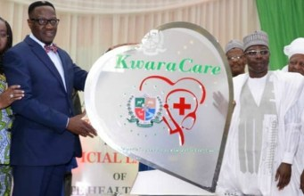 Dr Abdulfatah Ahmed, left, at the event...