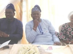 From the left: Oyo State Attorney General and Commissioner for Justice, Seun Abimbola, Commissioner for Health, Dr. Azeez Adeduntan and Hajjia Adebisi during the programme…